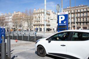 Entrée parking préfecture