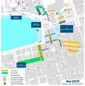 Mai 2019 - Plan phasage modification de la circulation en centre-ville Marseille