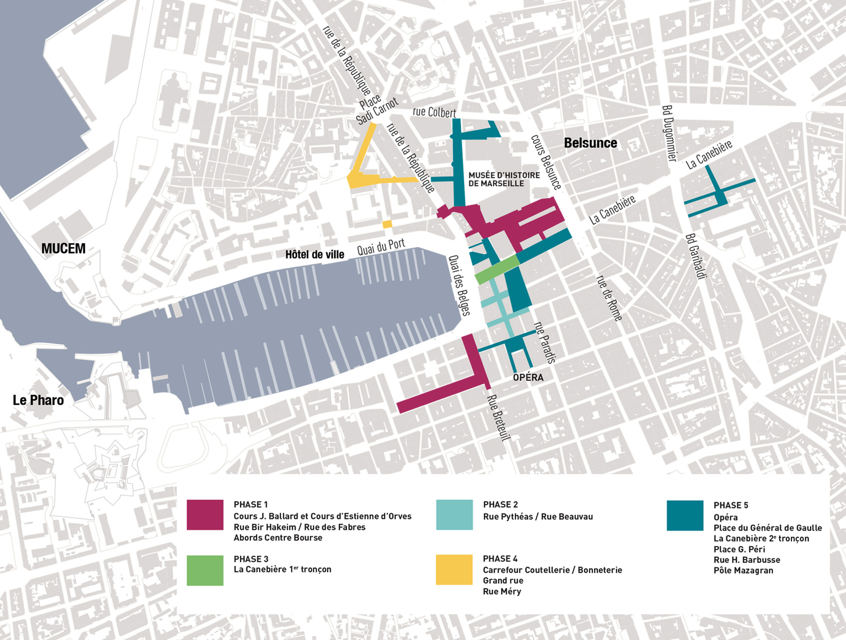 Carte phasage travaux Marseille Change