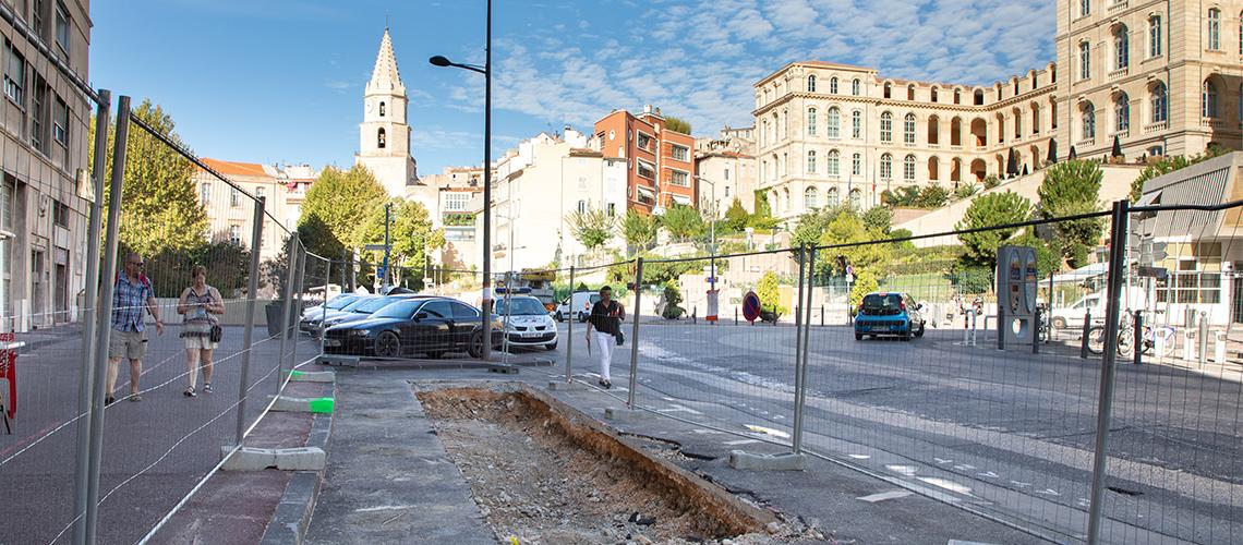 fouilles archéologiques rue mery