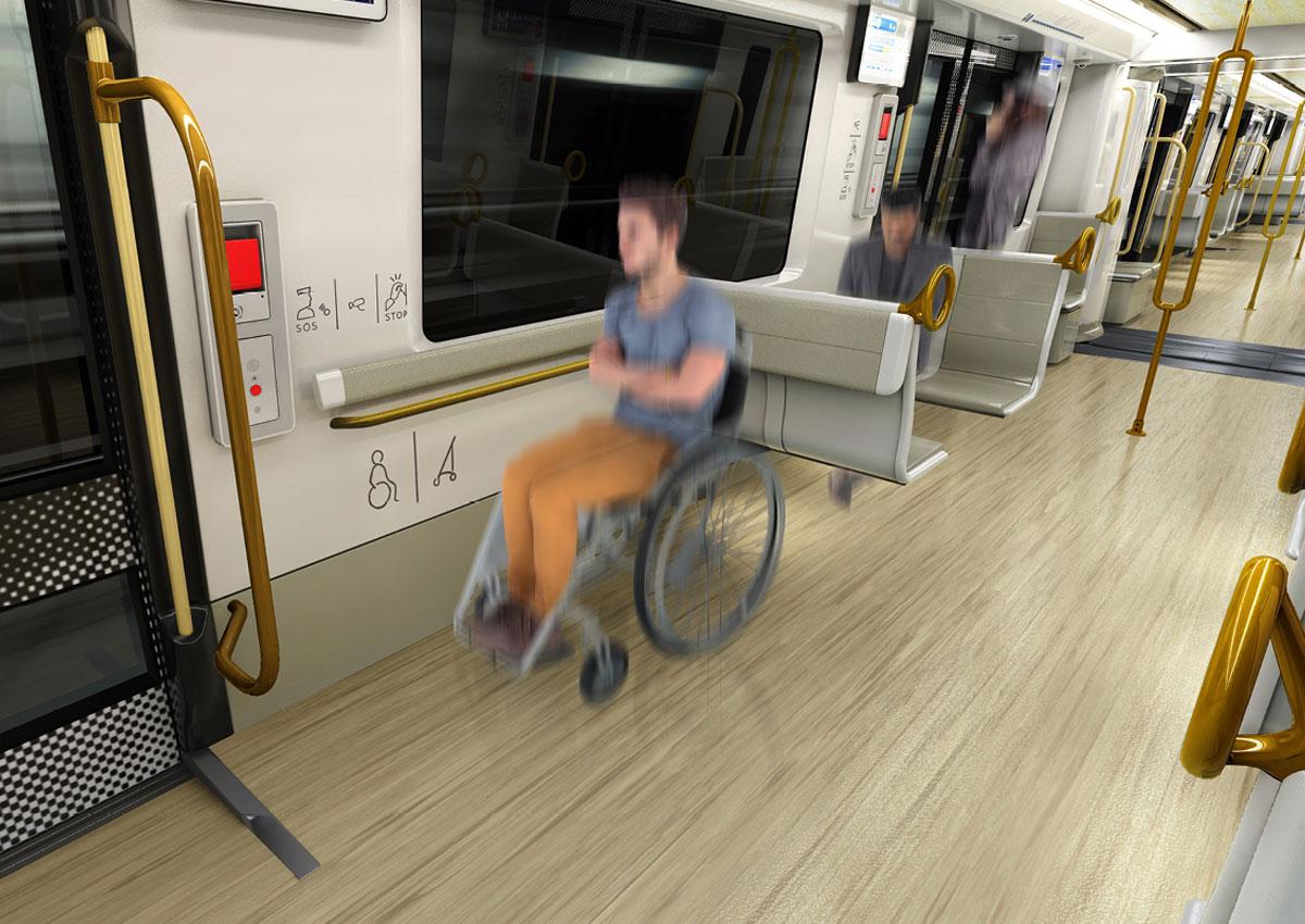 Nouveau métro marseillais : design C