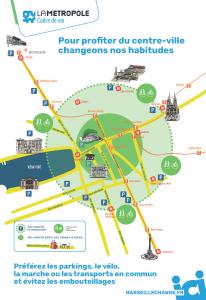 Plan accès centre-ville de Marseille