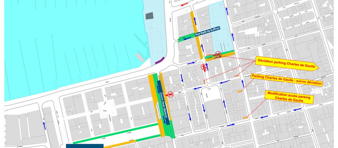 Juin 2019 - Plan phasage modification de la circulation en centre-ville Marseille