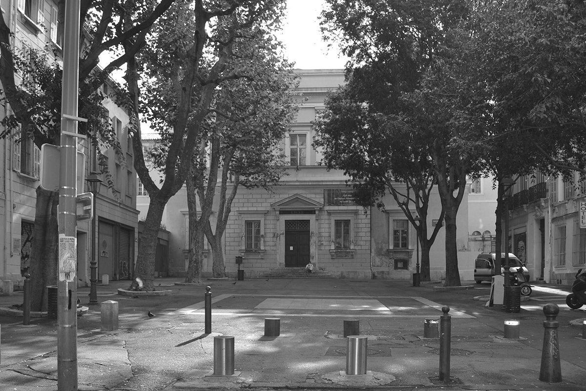 Place du Lycée Thiers depuis la rue Mazagran - Avant